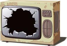 Vecchio set televisivo rotto royalty illustrazione gratis