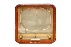 Vecchio set televisivo sovietico immagini stock