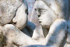 Vecchio sguardo delle statue Fotografia Stock Libera da Diritti