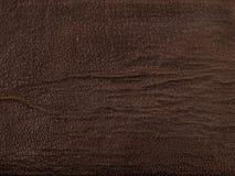 Vecchio sguardo marrone del cuoio del tessuto Fotografia Stock