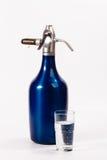 Vecchio sifone blu Fotografie Stock Libere da Diritti