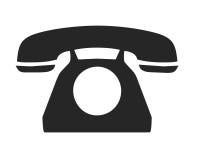 Vecchio simbolo del telefono di manopola Immagini Stock