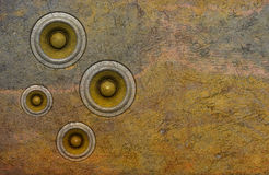 vecchio sistema acustico dell'altoparlante della parete 3d Fotografia Stock Libera da Diritti