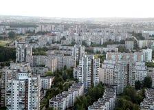 Vecchio sobborgo a Vilnius Fotografie Stock Libere da Diritti