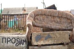 Vecchio sofà Immagine Stock