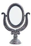 Vecchio specchio del metallo Fotografia Stock Libera da Diritti