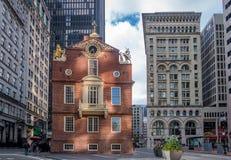 Vecchio stato Boston di casa, Massachusetts, U.S.A. fotografia stock