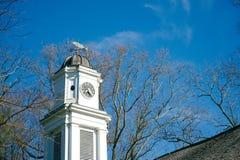 Vecchio steeple della chiesa Fotografie Stock