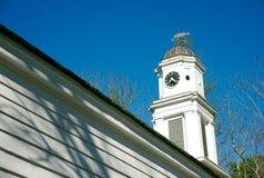 Vecchio steeple della chiesa Immagine Stock Libera da Diritti