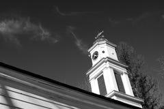 Vecchio steeple della chiesa Immagini Stock Libere da Diritti