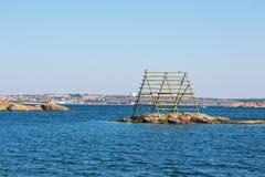 Vecchio stendipanni per il pesce Immagine Stock Libera da Diritti