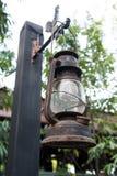 Vecchio stile dell'annata della lampada della lanterna Fotografia Stock