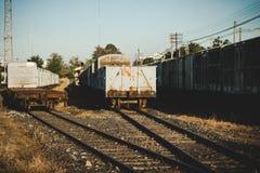 Vecchio stile dell'annata della stazione ferroviaria Fotografie Stock