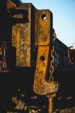 Vecchio stile dell'annata della stazione ferroviaria Fotografia Stock Libera da Diritti