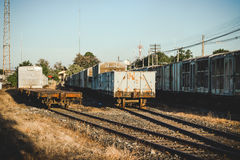 Vecchio stile dell'annata della stazione ferroviaria Fotografia Stock