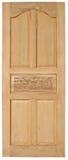 Vecchio stile della porta di legno su fondo bianco Fotografie Stock Libere da Diritti