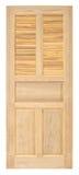 Vecchio stile della porta di legno su fondo bianco Immagine Stock