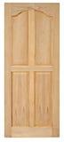 Vecchio stile della porta di legno su fondo bianco Immagine Stock Libera da Diritti