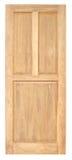 Vecchio stile della porta di legno su fondo bianco Immagini Stock