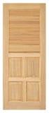 Vecchio stile della porta di legno su fondo bianco Fotografia Stock Libera da Diritti
