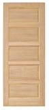 Vecchio stile della porta di legno su fondo bianco Immagini Stock Libere da Diritti
