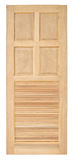 Vecchio stile della porta di legno su fondo bianco Fotografia Stock