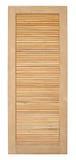 Vecchio stile della porta di legno su fondo bianco Fotografie Stock
