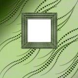 Vecchio stile verde del Victorian dei blocchi per grafici Fotografia Stock
