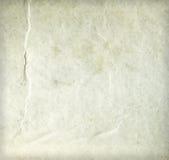 Vecchio strato di carta beige sporco corrugato Fotografie Stock Libere da Diritti