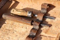 Vecchio strumento dello scalpello immagini stock libere da diritti