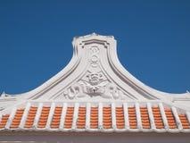 Vecchio stucco cinese sul tetto Fotografie Stock Libere da Diritti