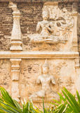 Vecchio stucco di arti in Chiang Mai Immagini Stock Libere da Diritti