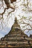 Vecchio Stupa in Mrauk U, Myanmar Immagini Stock Libere da Diritti