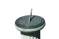 Vecchio sundial nella sosta Fotografia Stock Libera da Diritti