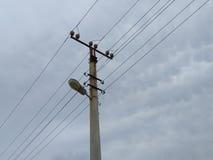Vecchio supporto dell'installazione elettrica Fotografia Stock Libera da Diritti