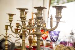 Vecchio supporto della candela Fotografia Stock