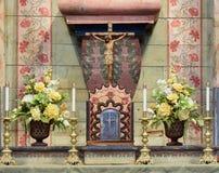 Vecchio tabernacolo di San Miguel di missione Fotografia Stock