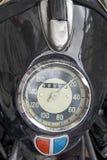 Vecchio tachimetro del motociclo Fotografie Stock Libere da Diritti