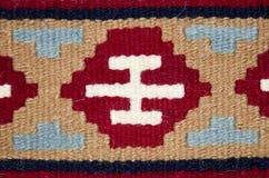 Vecchio tappeto rumeno tradizionale della lana Immagini Stock Libere da Diritti