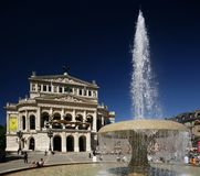 Vecchio Teatro dell'Opera di Francoforte Fotografia Stock