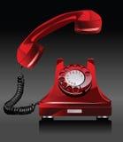 Vecchio telefono. Fotografia Stock