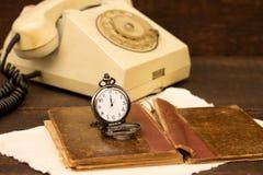 Vecchio telefono Immagine Stock Libera da Diritti