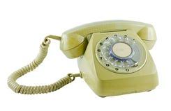 Vecchio telefono isolato Immagini Stock