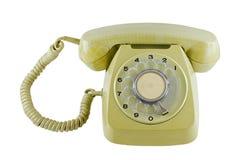Vecchio telefono con fondo isolato Fotografia Stock