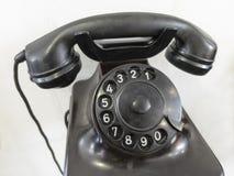 Vecchio telefono con la tastiera girante analogica Immagini Stock Libere da Diritti