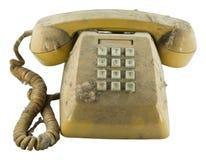 Vecchio telefono con polvere Immagine Stock