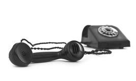 Vecchio telefono della bachelite su bianco fotografie stock