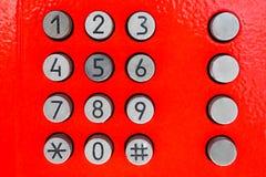 Vecchio telefono della tastiera Telefonia e comunicazione Immagini Stock Libere da Diritti