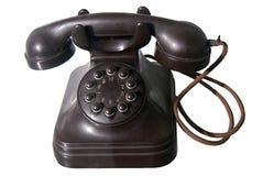 Vecchio telefono di manopola immagine stock libera da diritti