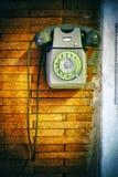 Vecchio telefono di manopola Fotografia Stock